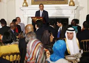 افطاری خوران عرب ها در کاخ سفید+عکس
