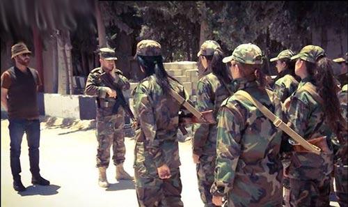 تصاویر آموزش نظامی زنان گارد ریاست جمهوری در سوریه