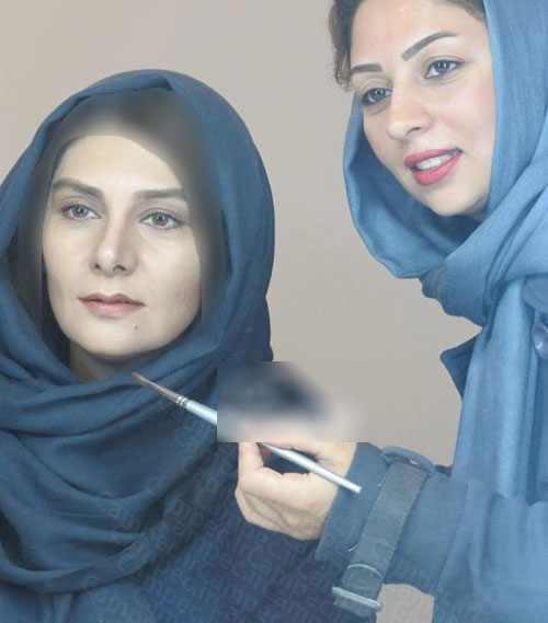 عکس بازیگران ایرانی در حال گریم