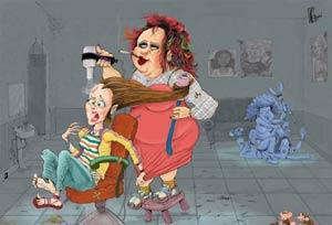 طنز جالب و خنده دار آرایشگاه زنانه