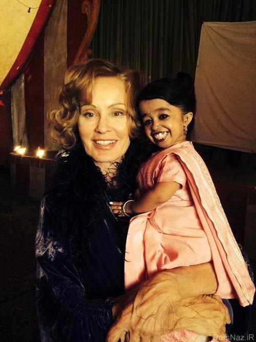 هنرپیشه شدن کوچکترین و کوتاه ترین زن جهان + عکس
