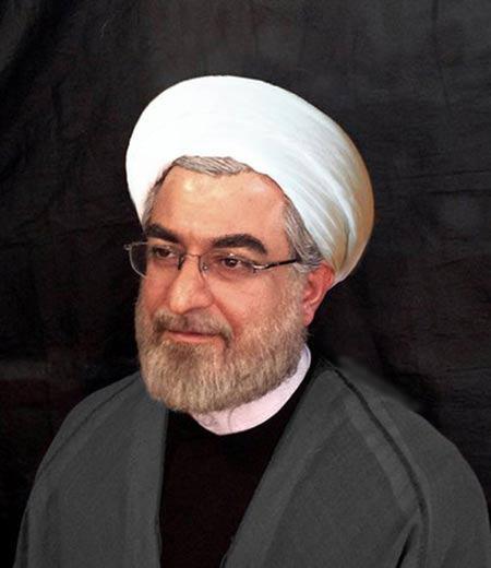 تبدیل شدن مسعود پاکدل به حسن روحانی + عکس