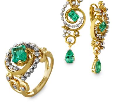 شیک ترین مدل های ست جواهرات برند روسی