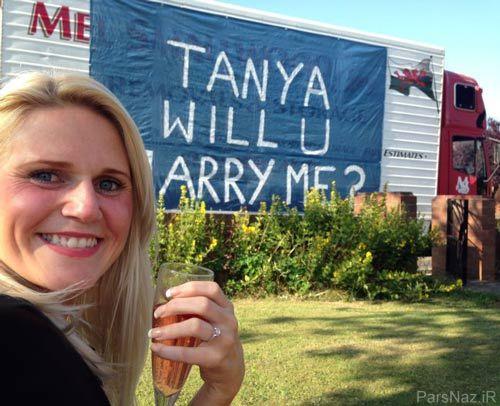 خواستگاری با کامیون برای بله گرفتن از عروس خانم + عکس