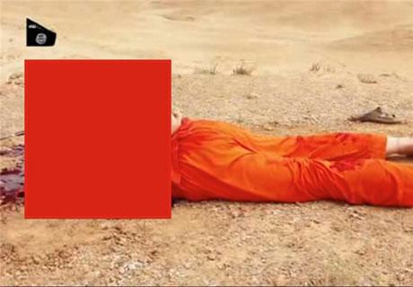 داعشی ها سر یک آمریکایی را جلوی دوربین بریدند + عکس