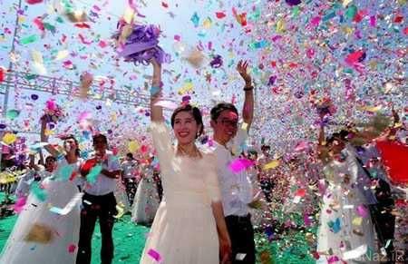 از 77 عروسی در روز و یک تصادف عجیب + عکس