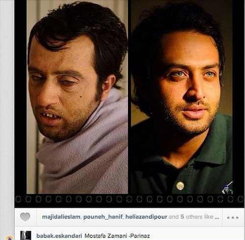 گریم متفاوت مصطفی زمانی بازیگر نقش یوسف پیامبر + عکس