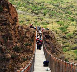 رونمایی ترسناک ترین پل معلق ایران + عکس