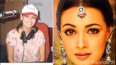 تغییر چهره دیدنی بعد از آرایش بازیگران هندی + عکس