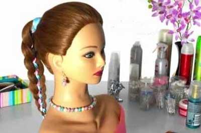 آموزش گام به گام و تصویری بافت مو دخترانه با ربان