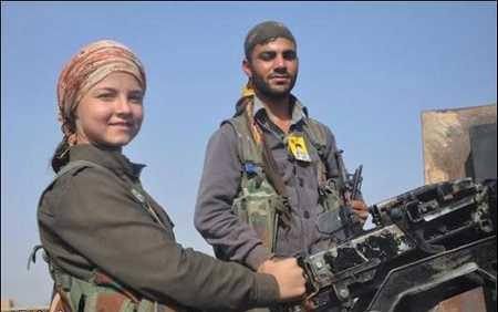 زنانی که از تروریستهای داعش ترسی ندارند + عکس