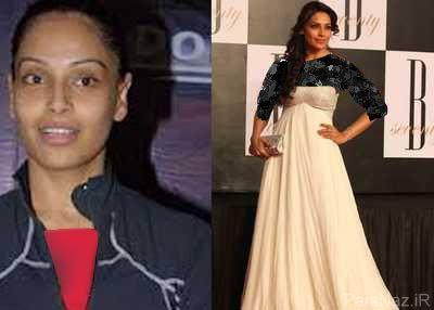 عکس های دیدنی از بازیگران زن بالیوودی قبل و بعد از آرایش