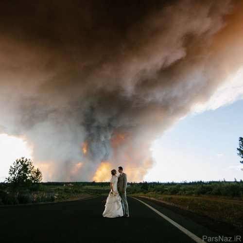 اتفاقی عجیب که پشت صحنه تصاویر جشن عروسی شد