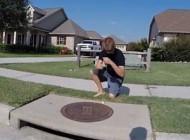 گرفتن ماهی از آب فاضلاب شهری در تگزاس + عکس