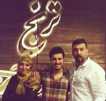 تبریک فوتبالیست سرشناس به جواد عزتی و همسرش + عکس
