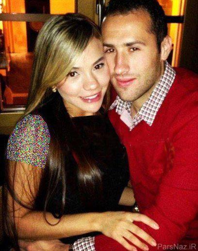 اوسپینا و همسر مدلش در میان بازیکنان آرسنال + عکس