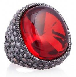 شیک ترین مدل های انگشتر با سنگ های رنگی
