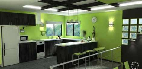 نمونه هایی از دکوراسیونی زیبا با رنگ سبز برای منزل
