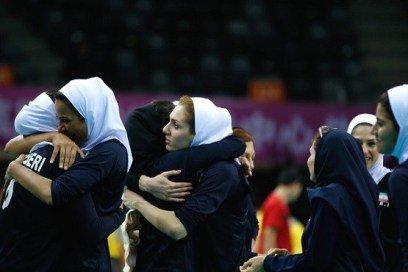 خوشحالی دختران والیبالیست  ایرانی+عکس