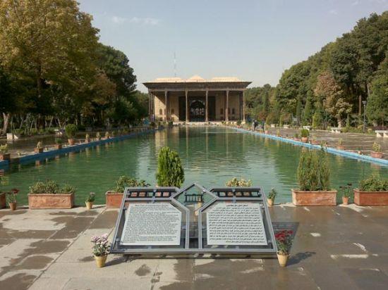 عکس های جذاب از معماری باغ چهلستون اصفهان