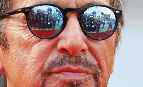 عکس هایی از آل پاچینو روی فرش قرمز ونیز