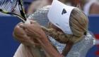 موی بلند خانم ورزشکار در حین مسابقه دردسر ساز شد