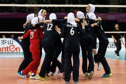 شادی دیدنی دختران والیبالیست ایرانی + عکس