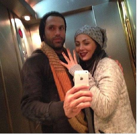عکس جنجالی علیرضا نیکبخت واحدی فوتبالیست مشهور با همسرش