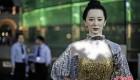 خانم زیبا رو رباتیک در استادیوم چین + عکس