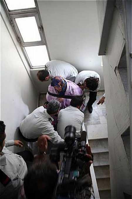 زن 160 کیلویی تهرانی بعد از 8 سال از خانه خارج شد