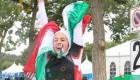 عکس های افتخار آمیز حضور زن ایرانی با حجاب در مسابقات کانادا