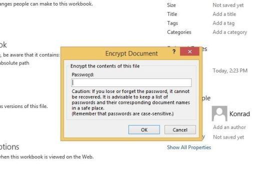 آموزش گام به گام و تصویری رمزگذاری روی پروژه های اکسل