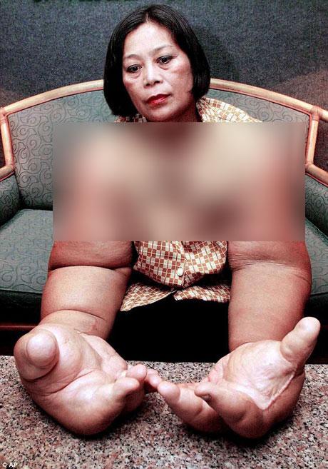 زنی که صاحب سنگین ترین دستان دنیا است + عکس