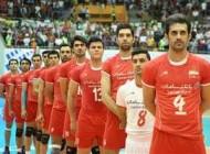 اجرای مراسم عروسی در بازی والیبال ایران و لهستان
