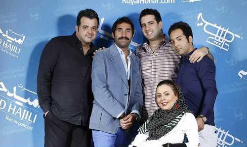 غافلگیری امید حاجیلی خواننده سرشناس ایرانی در شب تولدش