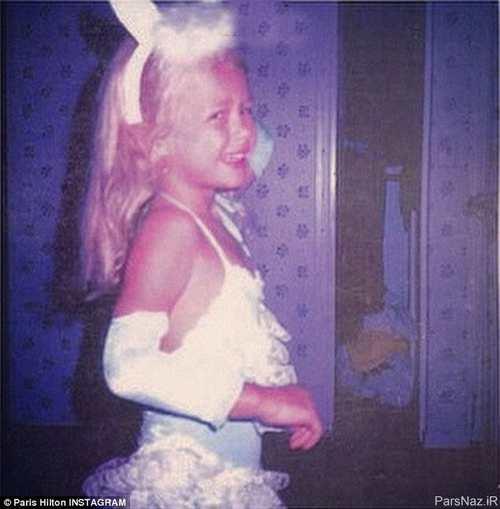 عکس جالب از کودکی پاریس هیلتون مدل و بازیگر معروف امریکایی