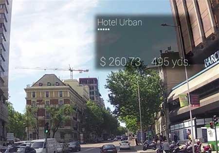رونمایی عینک جالب راهنمای توریست برای پیدا کردن هتل