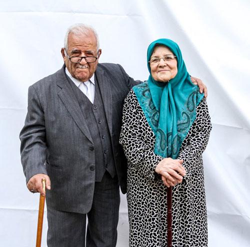 سال های عاشقی با عاشقانه ترین زوج های سالمند + عکس