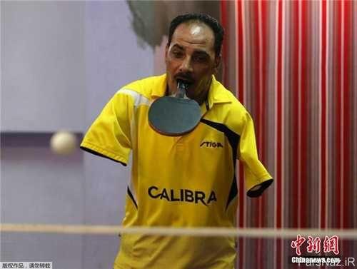 عکس های دیدنی از تنیسور حرفه ای بدون دست