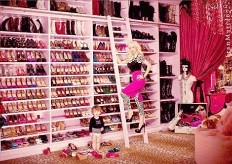 کمد کفش و لباس ستارگان معروف +تصاویر