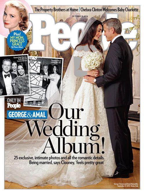 اولین تصاویر از مراسم عروسی جرج کلونی جذاب ترین هنرپیشه مرد