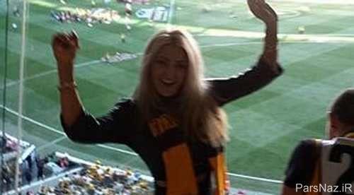 عکس های جنجالی برهنه شدن مدل اسکاتلندی در مسابقات فینال AFL