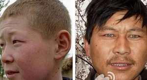 عکس های جالب نژاد چینی های مو بور و چشم آبی