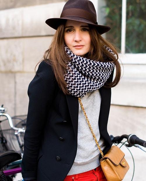 15 روش شیک پوشیدن شال گردن در فصل پاییز -عکس