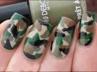 آموزش تصویری طراحی ناخن مدل ارتشی