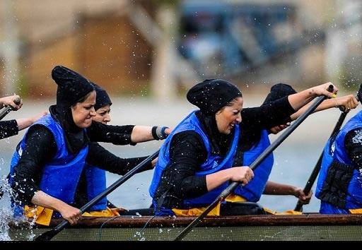 تصاویر جالب و دیدنی مسابقات قایقرانی زنان