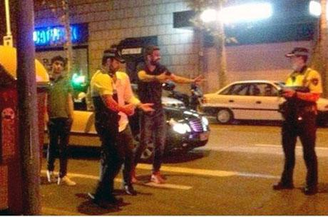 خبر جنجالی رشوه دادن جرارد پیکه به پلیس بعد از درگیری + عکس