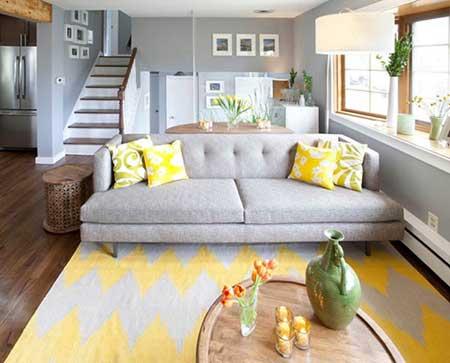 چگونگی بکار بردن رنگ زرد در طراحی داخلی + عکس