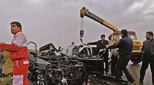 تصادف دلخراش و مرگبار در اردبیل در جاده + عکس