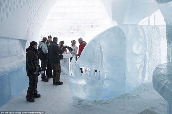 عکس های فوق العاده دیدنی هتل یخی در سوئد